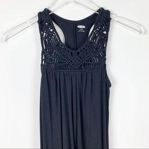 Old Navy Black Crochet Dress sz M Girls 8